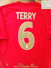 2006/07 England Away Football Shirt Terry #6 (M)