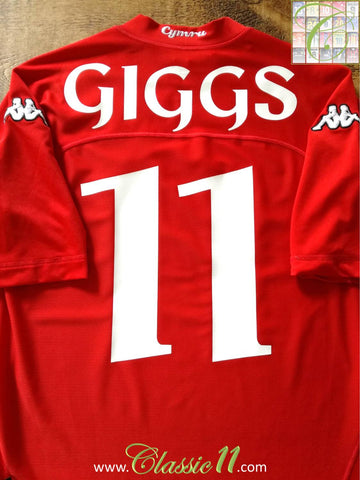 2004/05 Wales Home Football Shirt Giggs #11 (M)