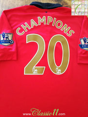 2013/14 Man Utd Home Premier League Football Shirt Champions #20 (XXL)