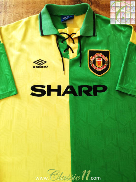 ad273b8dc6f 1992 93 Man Utd 3rd Football Shirt   Old Original Newton Heath ...