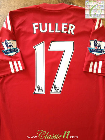 2010/11 Stoke City Home Premier League Football Shirt Fuller #17 (S)