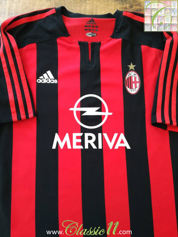 2003/04 AC Milan Home Player Issue Football Shirt (M)