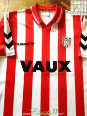 1991/92 Sunderland Home Football Shirt (XL)