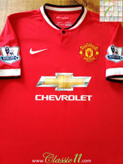 2014/15 Man Utd Home Premier League Football Shirt (L)