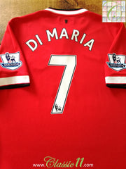 2014/15 Man Utd Home Premier League Football Shirt Di Maria #7 (L)