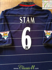 1999/00 Man Utd Away Premier League Football Shirt Stam #6 (XL)