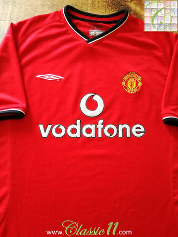 2000/01 Man Utd Home Football Shirt (M)