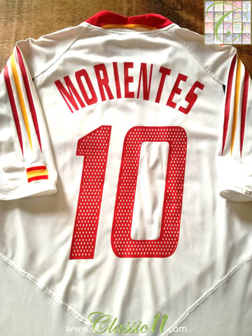2004/05 Spain Away Football Shirt Morientes #10 (L)