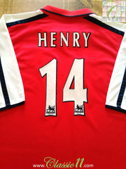 2000/01 Arsenal Home Premier League Football Shirt Henry #14 (XXL)
