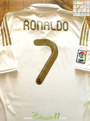 2011/12 Real Madrid Home La Liga Football Shirt Ronaldo #7 (M)