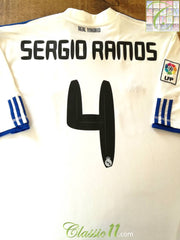 2010/11 Real Madrid Home La Liga Football Shirt Sergio Ramos #4 (XXL)