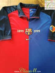 1999/00 Barcelona Home Centenary Football Shirt (L)