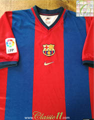 1998/99 Barcelona Home La Liga Football Shirt (L)