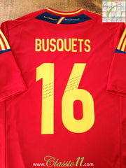 2012/13 Spain Home Football Shirt Busquets #16 (L)