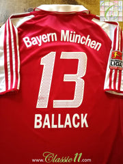 2003/04 Bayern Munich Home Bundesliga Football Shirt Ballack #13 (XL)