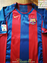 2004/05 Barcelona Home La Liga Football Shirt (S)