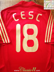 2007/08 Spain Home Football Shirt Cesc #18 (L)