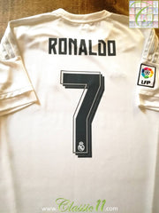 2015/16 Real Madrid Home La Liga Football Shirt Ronaldo #7 (M)