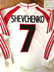 2000/01 AC Milan Away Football Shirt Shevchenko #7 (XL)