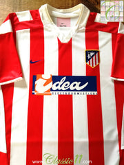 2002/03 Atlético Madrid Home La Liga Football Shirt (L)