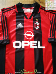 1998/99 AC Milan Home Football Shirt (XL)
