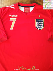 2006/07 England Away Football Shirt #7 (XL)