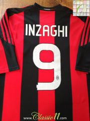 2010/11 AC Milan Home Football Shirt Inzaghi #9 (XXXL)