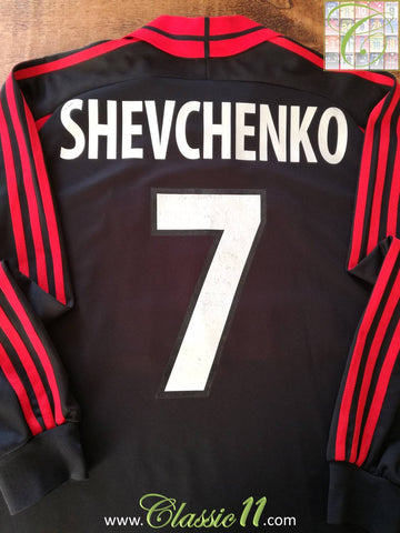2000/01 AC Milan 3rd Football Shirt Shevchenko #7 (XL)