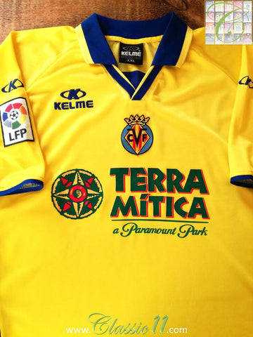 2002/03 Villareal Home La Liga Football Shirt (XXL)