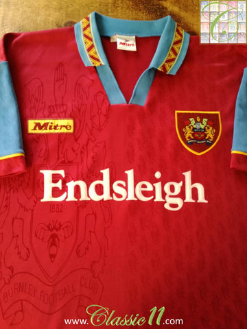 1995/96 Burnley Home Football Shirt (XL)