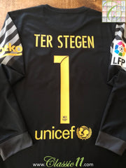 2015/16 Barcelona Goalkeeper La Liga Football Shirt Ter Stegen #1 (S)