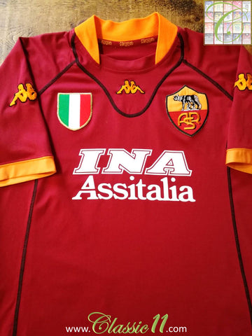 2001/02 Roma Home Football Shirt (XL)