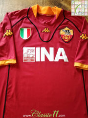 2002 Roma Home Football Shirt (XXL)