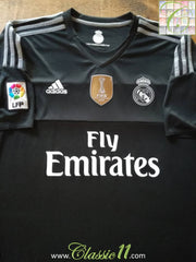 2015/16 Real Madrid Goalkeeper La Liga Football Shirt (XL)