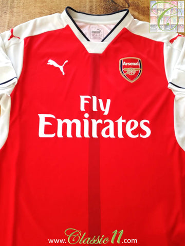 2016/17 Arsenal Home Football Shirt (XXL)