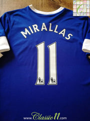 2012/13 Everton Home Premier League Football Shirt Mirallas #11 (M)