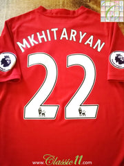 2016/17 Man Utd Home Premier League Football Shirt Mkhitaryan #22 (S)