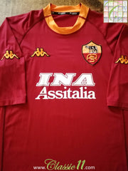 2000/01 Roma Home Football Shirt (XXL)