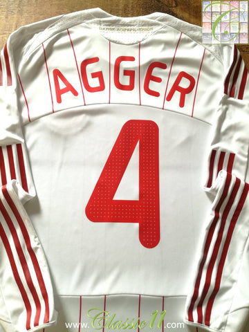 2008/09 Denmark Away Player Issue Football Shirt Agger #4 (L)