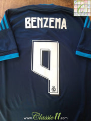 2015/16 Real Madrid 3rd La Liga Football Shirt Benzema #9 (S)