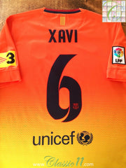 2012/13 Barcelona Away La Liga Football Shirt Xavi #6 (S)