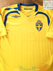 2007/08 Sweden Home Football Shirt (XL)