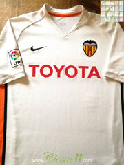 2006/07 Valencia Home La Liga Football Shirt (L)