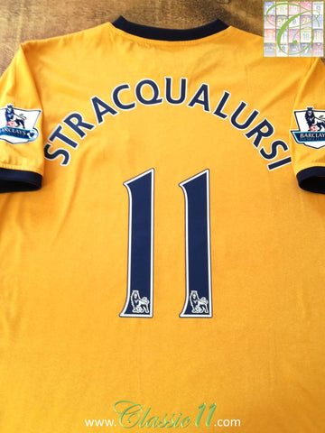 2011/12 Everton Away Premier League Football Shirt Stracqualursi #11 (L)