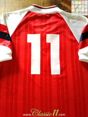 1992/93 Arsenal Home Football Shirt Parlour #11 (L)