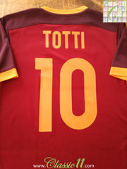2015/16 Roma Home Football Shirt Totti #10 (S)