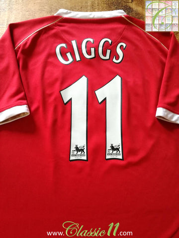 2006/07 Man Utd Home Premier League Football Shirt Giggs #11 (XL)