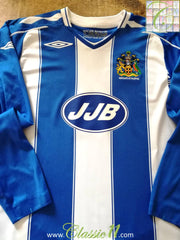 2007/08 Wigan Athletic Home Football Shirt. (L)
