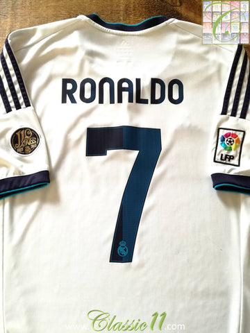 2012/13 Real Madrid Home La Liga Football Shirt Ronaldo #7 (S)