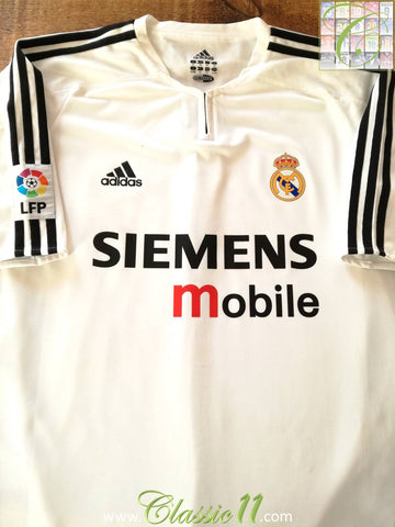 2003/04 Real Madrid Home La Liga Player Issue Football Shirt (L)